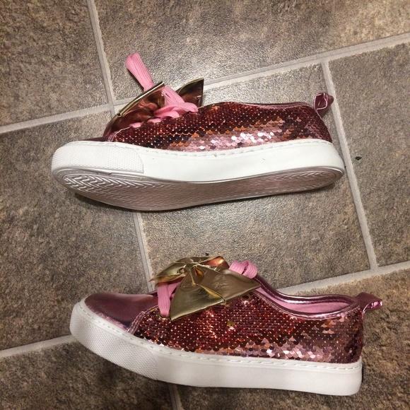 Jojo Siwa Zapatos Sneaker | Reversible Sequins Rosa Oro Bow Sneaker Zapatos | Poshmark 3f5f6b